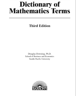 Dictionary of mathematics Terms PDF Download