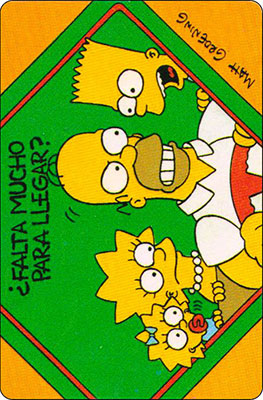 Bollycao The Simpsons Cromo 20