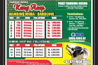 harga kambing guling kota bandung