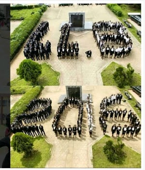 GREAT! Best Class Formation Ever? Check In To See What UNIBEN Students Did Ahead Of Their Graduation(Photos)
