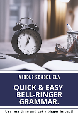 If you aren't using mentor sentences as part of your bell-ringer routine in your middle school ELA class, then read this to get 3 (or more) reasons why you need to start!