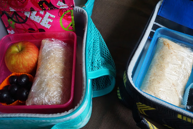 Chicken bacon jalapeno burritos that fit inside kids lunchbox
