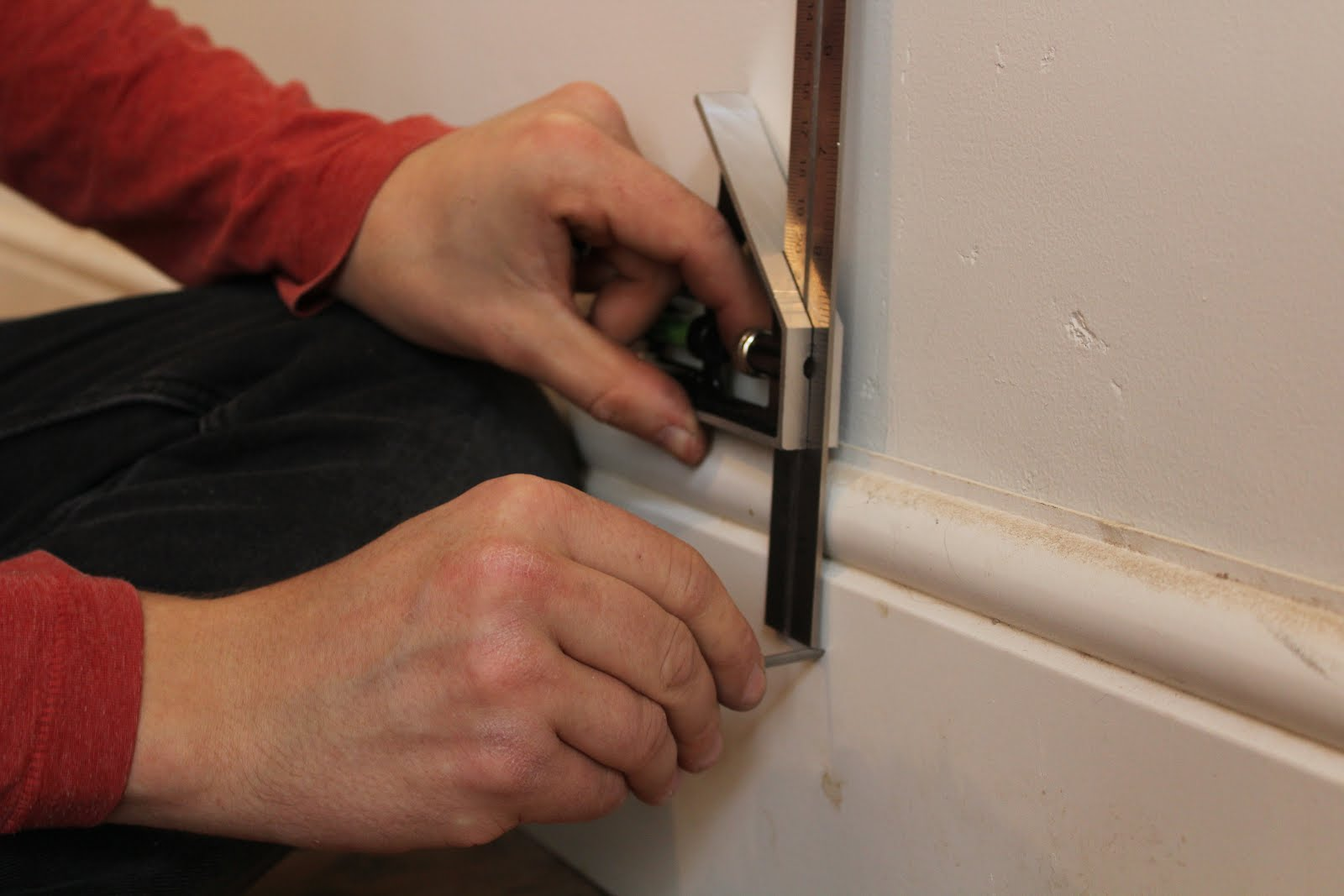 Attaching skirting boards to old walls