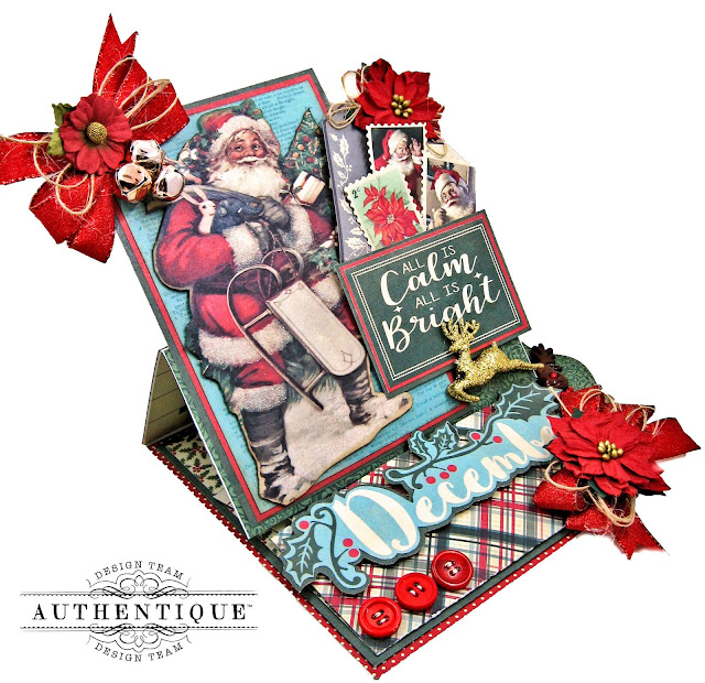 Authentique Paper December Desk Calendar Tutorial by Kathy Clement Photo 01
