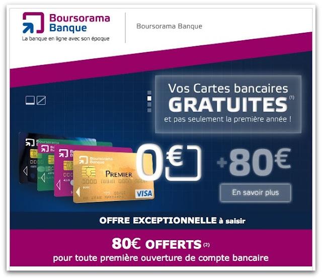 Boursorama Banque - 80€ à l'Ouverture du Compte