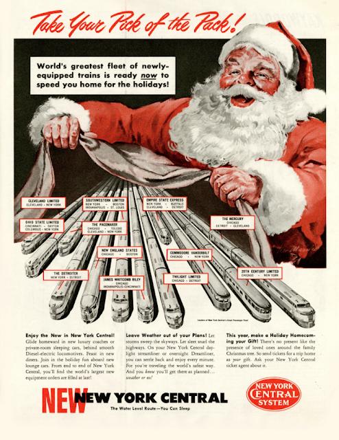 Christmas Train Ad With Santa