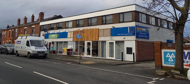 Londis, Ellie D's Tattoo Studio and Grainey's Barbers on Holden Road in Leigh