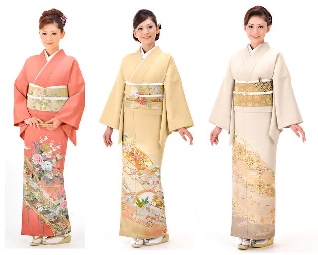 tomesode kimono woman
