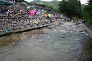 整備された川岸