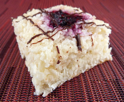 Photo of Coconut and Jam Macroon Bars