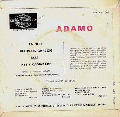 ADAMO - 1965 - La nuit (FR-VOIX DE SON MAITRE EGF 800) mono