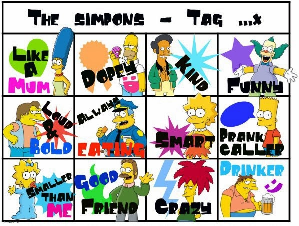 Facebook The Simpons Tags