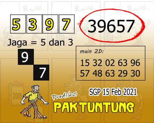 Pak Tuntung SGP Senin 15 Februari 2021