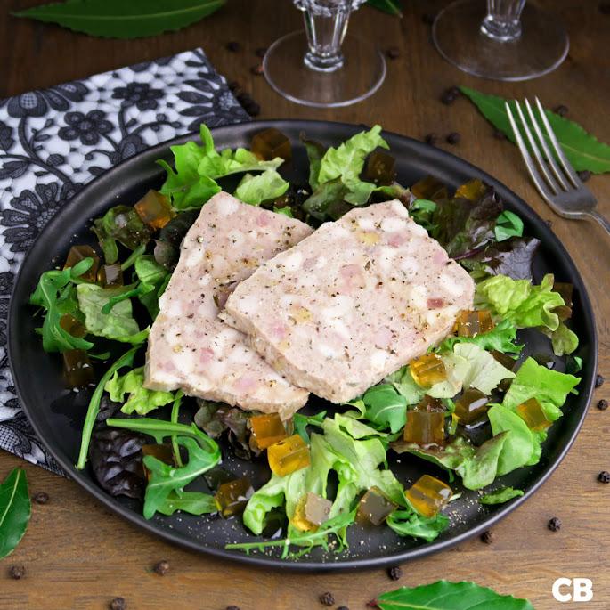 Recept Salade met een paar lekkere plakken Franse terrine