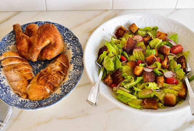 Roasted Chicken Fattoush
