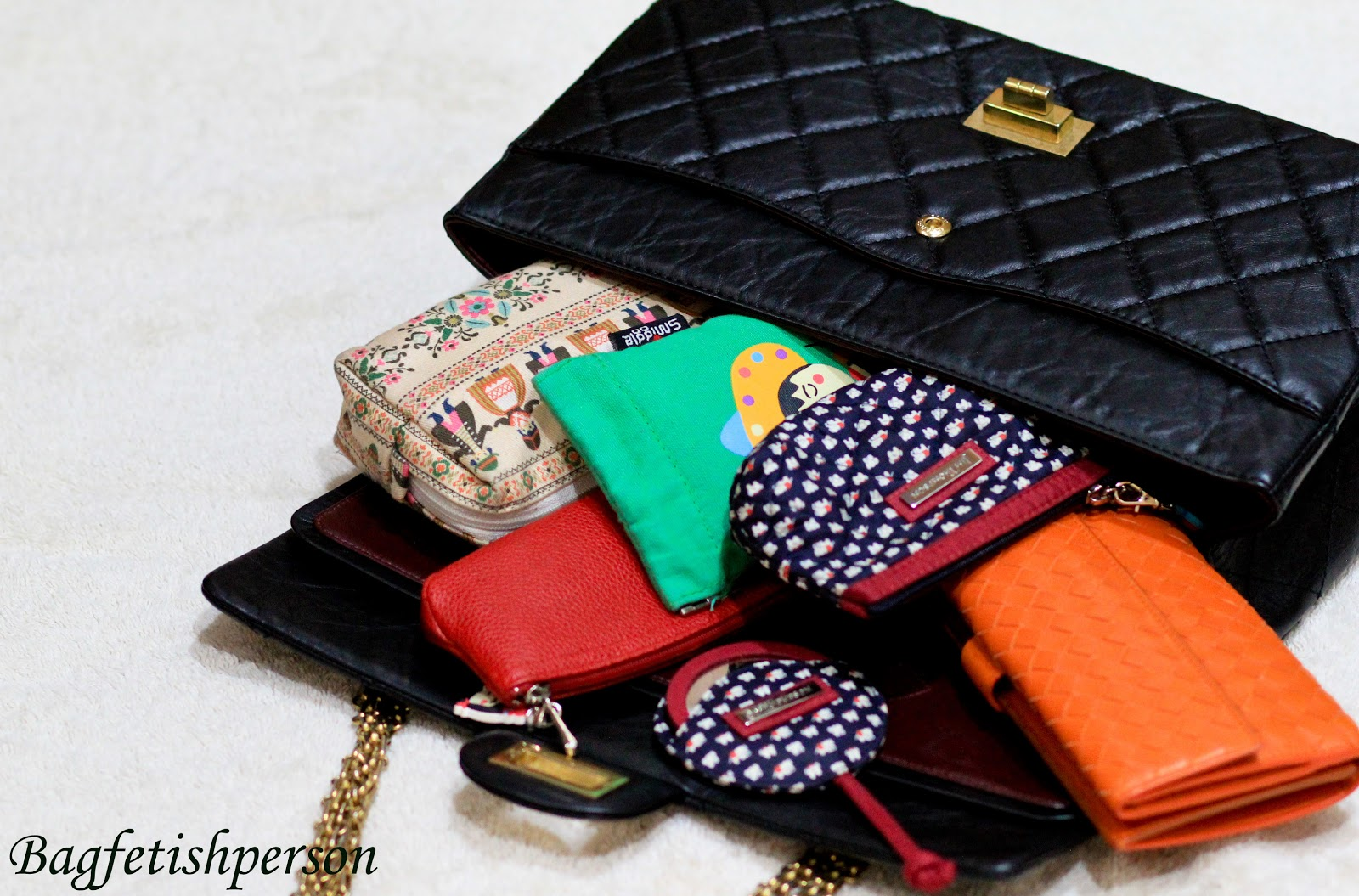 Bagfetishperson Inside My Bag Chanel Reissue In Black Matte