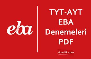 TYT AYT EBA Denemeleri PDF