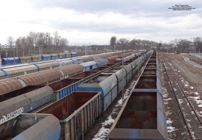 Wagony na stacji Oświęcim