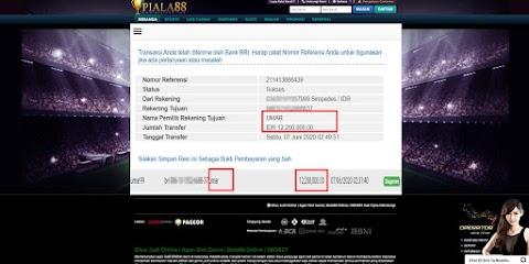 Selamat Kepada Member Setia PIALA88 Withdraw RP 12.200.000