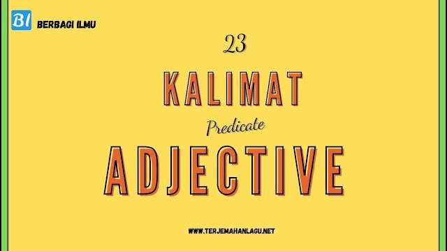 kalimat predicate adjective