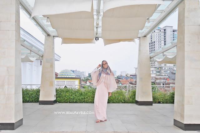OOTD hijab Pastel