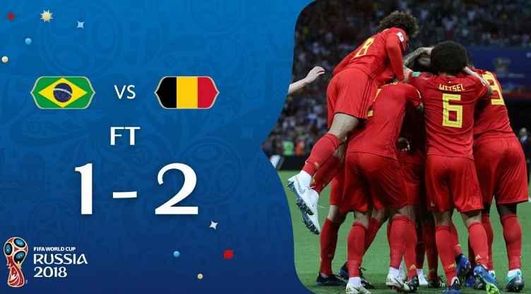 Hasil Brasil vs Belgia Skor Akhir 1-2 | Perempat Final World Cup 2018