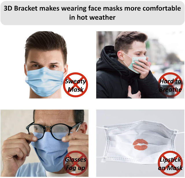 3D Bracket makes wearing face masks more comfortable in hot wearther