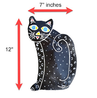 Kitty wall art size specifications