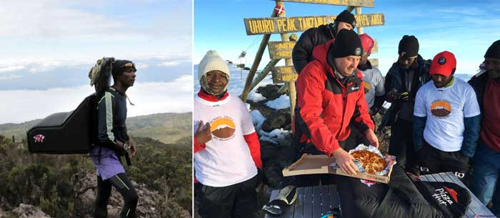 Pizza Hut delivered a pizza to the top of Mount Kilimanjaro