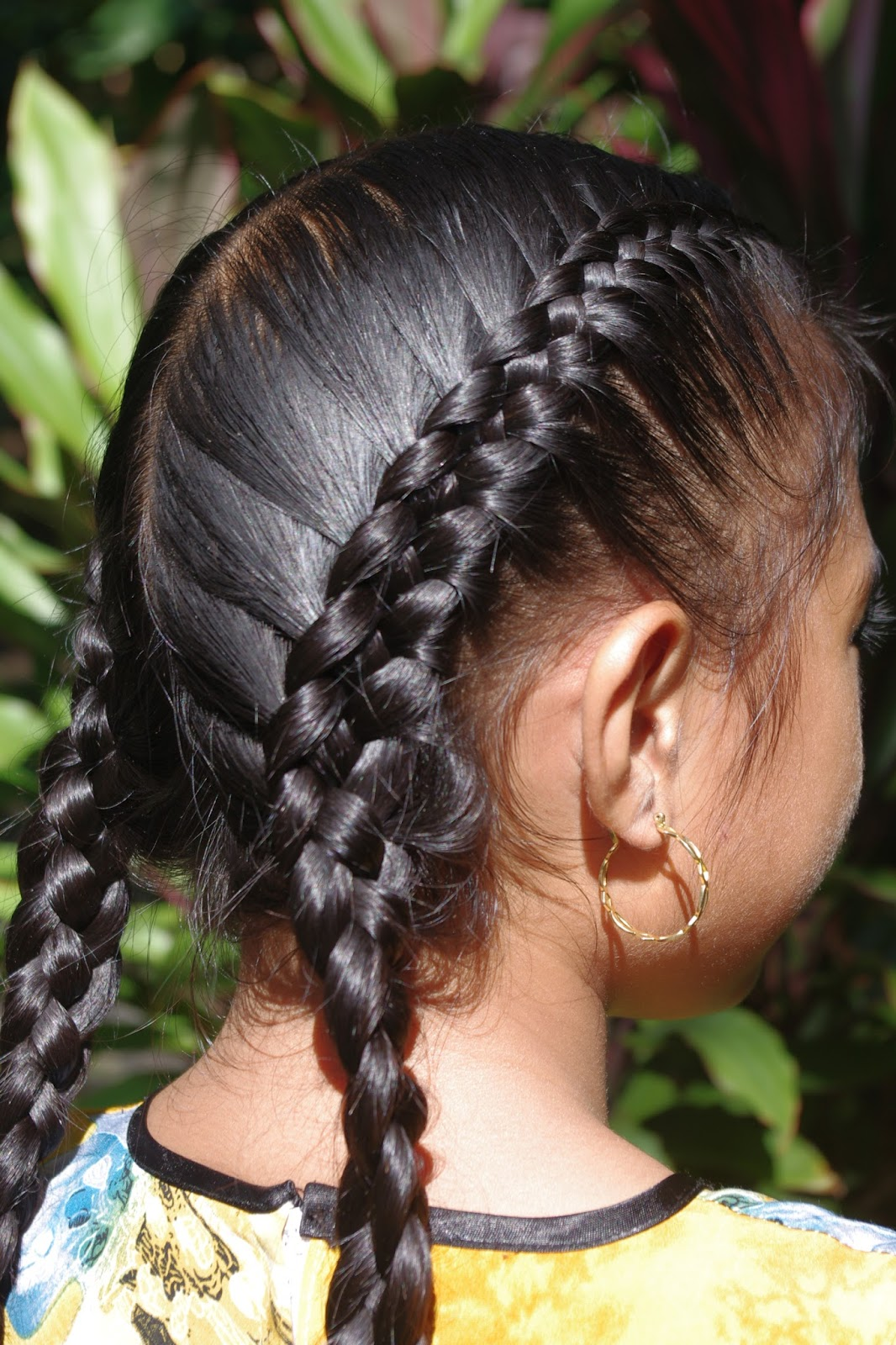 hair style in hair two braids with weave hairstylegalleries 4137