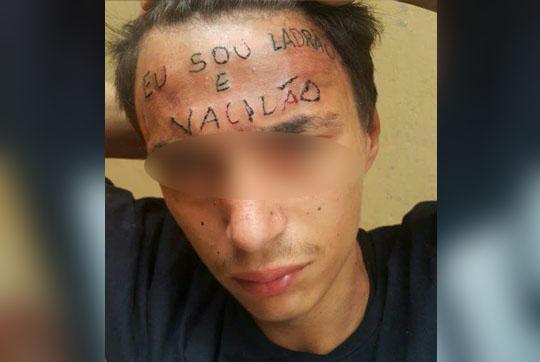 Brasil: Tatuador é preso por tortura após escrever 'eu sou ladrão e vacilão' na testa de adolescente