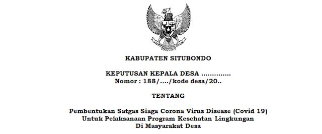 Contoh SK Pembentukan Satgas Covid 19 Untuk Pelaksanaan Program Kesehatan Lingkungan Di Masyarakat Desa