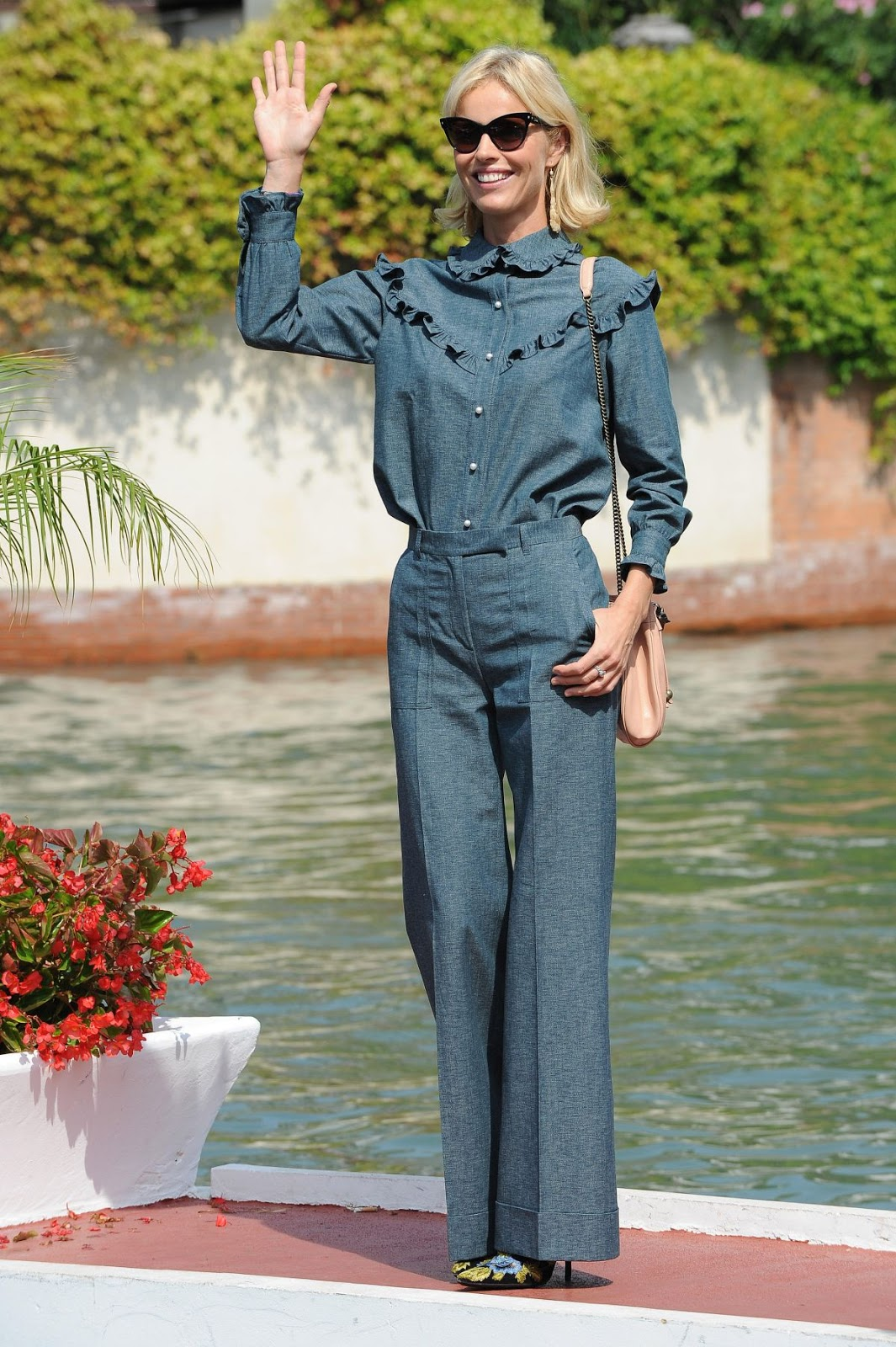 HD Photos of Eva Herzigova Arrives At Lido In Venice Film Festival