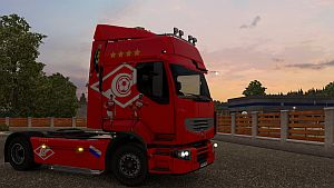 FC Spartak Moscow skin for Renault Premium