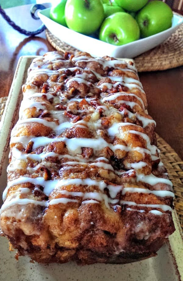 Delicious Country Apple Fritter Bread #bread #breakfast
