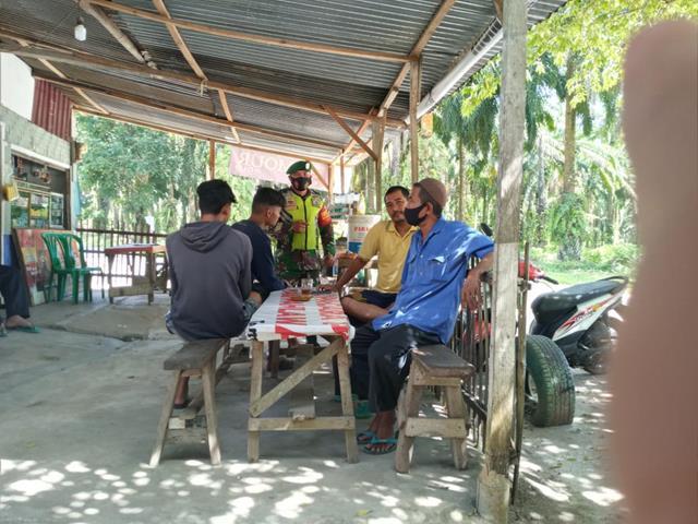 Laksanakan Gakplin Prokes PPKM Dalam Rangka Cegah Covid-19 Diwilayah Binaan Dilakukan Personel Jajaran Kodim 0207/Simalungun