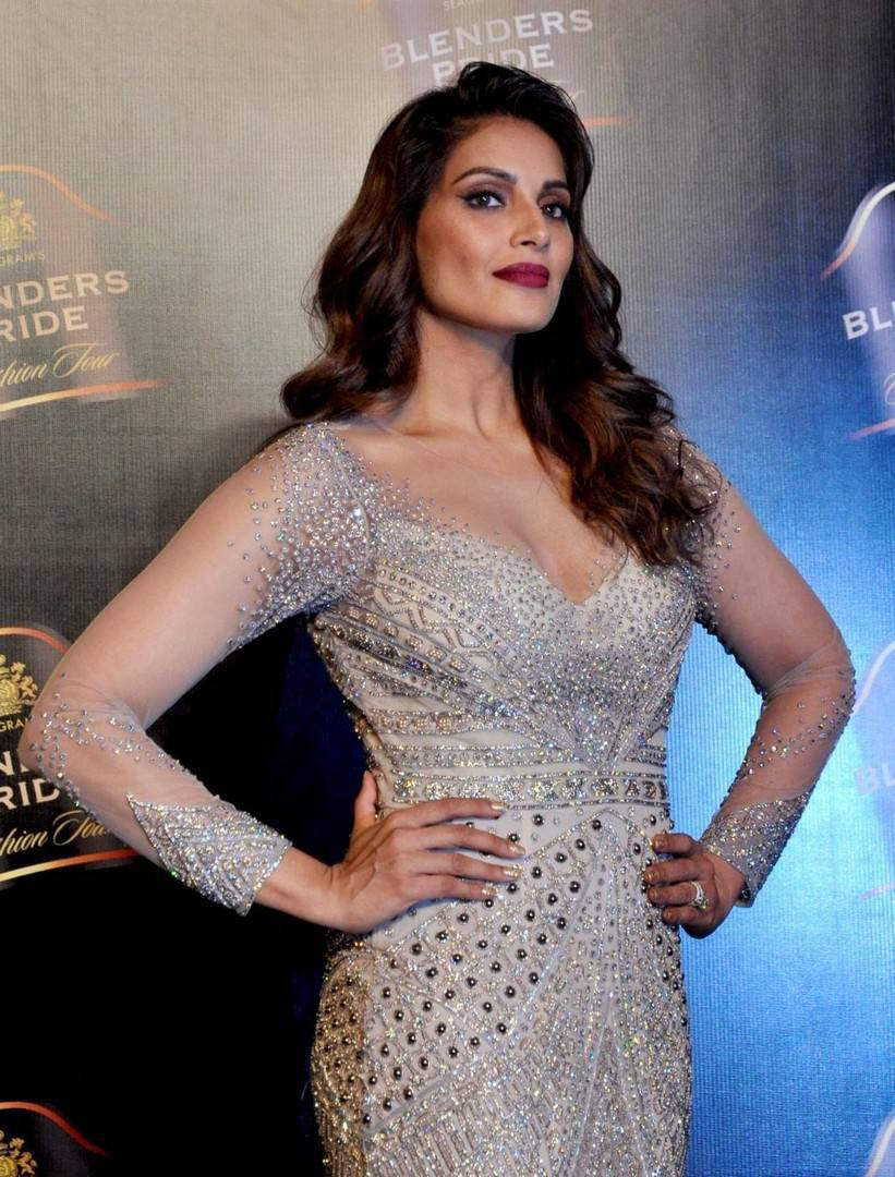 Bollywood Actress Bipasha Basu Stills In White Dress