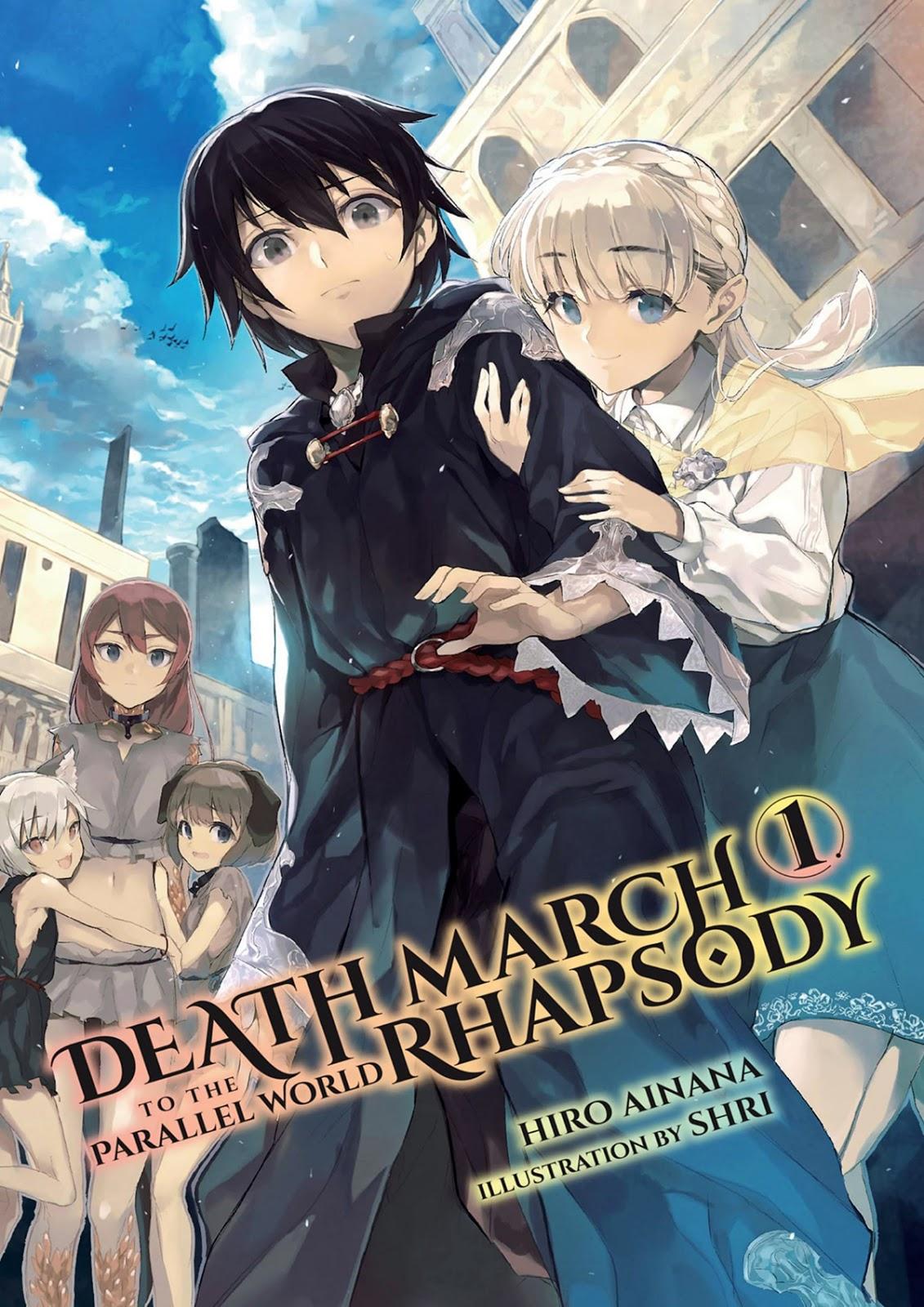 Death March to the Parallel World Rhapsody Ilustrações Lightnovel Volume 01 Satou Pendragon, Zena Marientail, Liza, Pochi e Tama