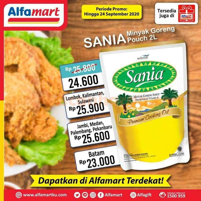 Alfamart Promo Sania Minyak Goreng Pouch 2 Liter Periode 21 24 September 2020 Scanharga