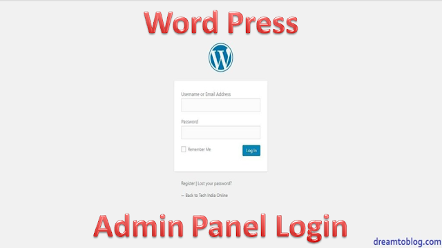 How to login wordpress admin panel