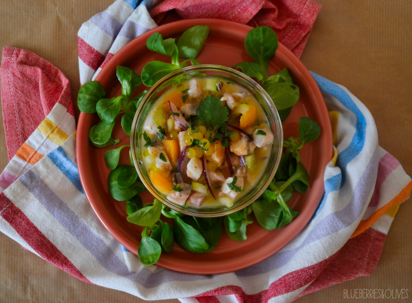 CROAKER FISH CEVICHE WITH LOQUATS AND CITRUSES