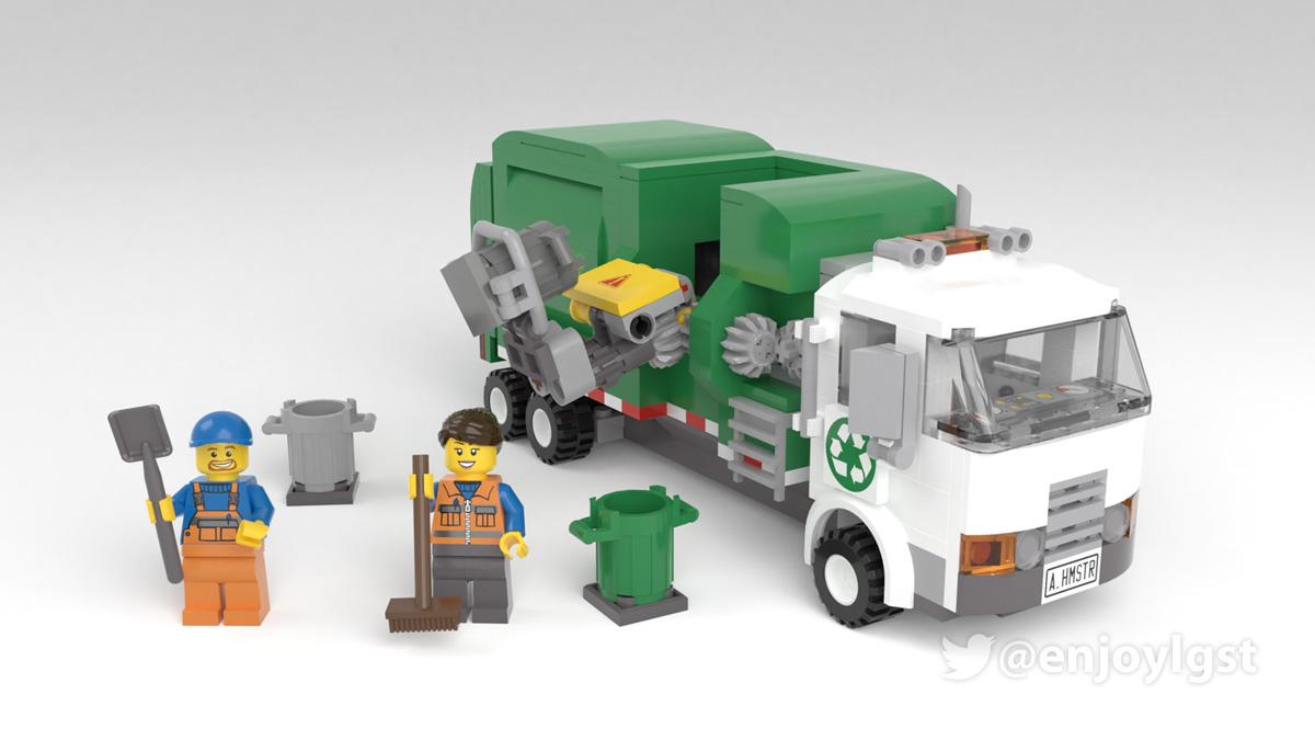 レゴアイデアで『自動ゴミ収集車』が製品化レビュー進出!2020年第3回1万サポート獲得デザイン紹介