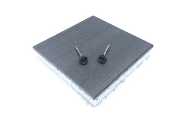 "Painted Wood Screws & Painted Countersunk Washers - #8 X 1-3/4"" Phil Flat Wood Screws In Steel Zinc"