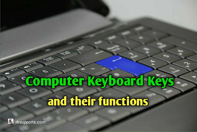 computer keyboard keys and their functions, computer keyboard, keyboard functions, shortcut keys