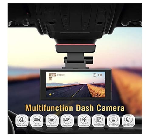 T-View Voice Control car on-Dash Mounted Dual Cameras
