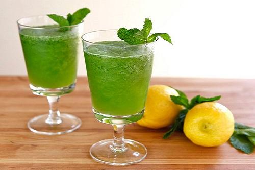 How to make iced mint lemon juice