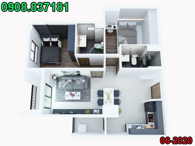 Nội, ngoại thất: [0908837181] Nhận vẽ phối cảnh 3d nội thất và ngoại thất giá rẻ - Page 2 Phoi-canh-can-ho-chung-cu-4