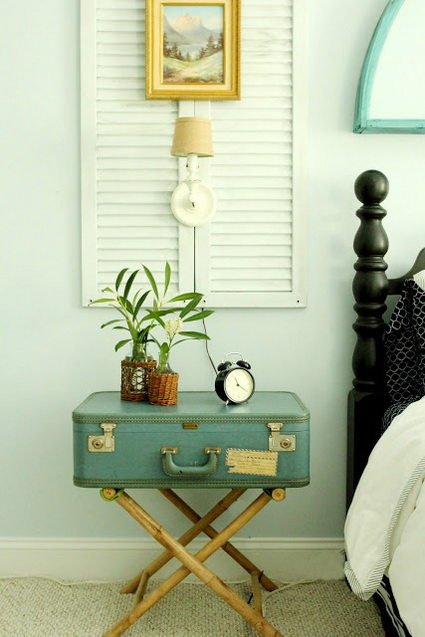 Great And Creative Ideas For Decorating With Old Suitcases 2