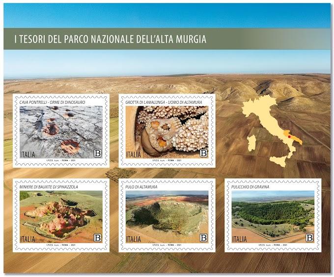Emissione francobolli Tesori del Parco Nazionale dell'Alta Murgia