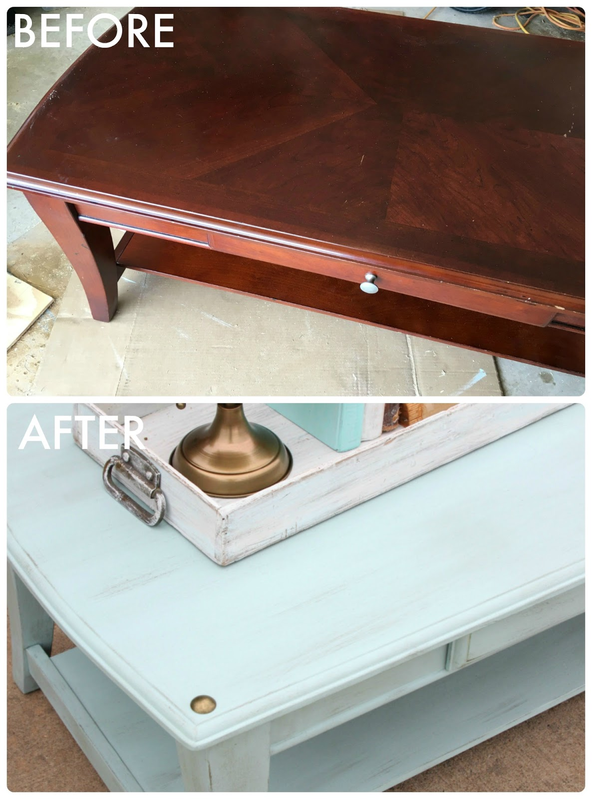 Tattered And Inked Coffee Table Transformation A Fun Announcement